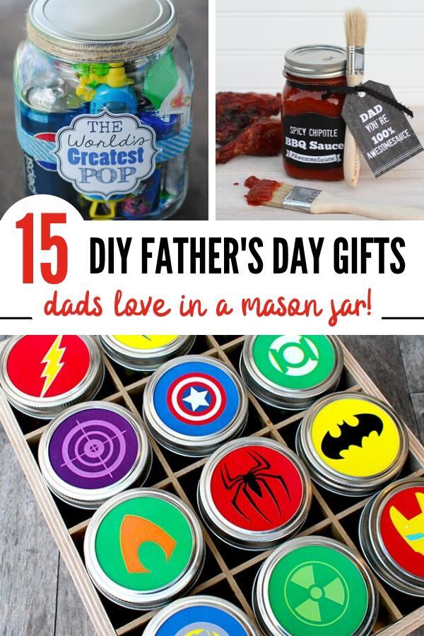 Mason jar presents for Dad Pin image B