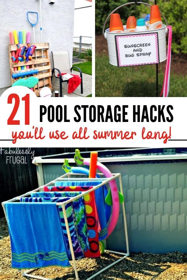 pool storage tips and pool fun hacks Pin Image B