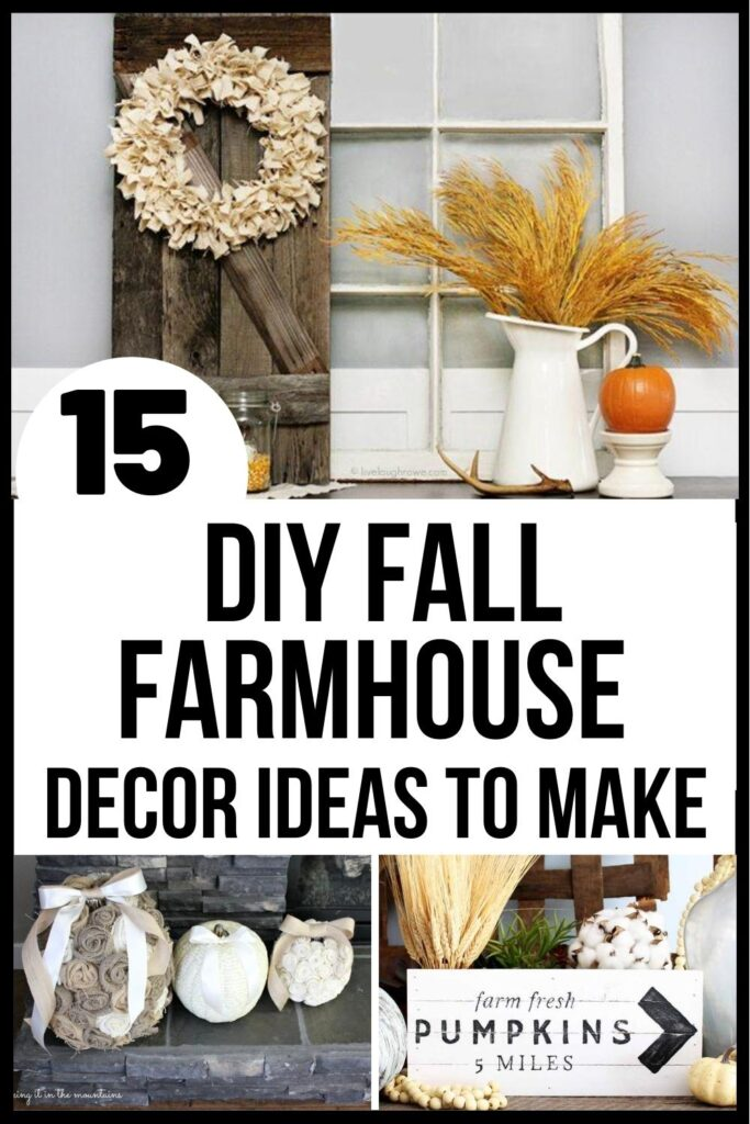 DIY fall farmhouse decor pin image A