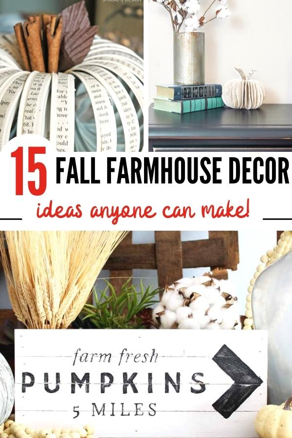 15 Easy DIY Fall Farmhouse Decor Ideas To Make
