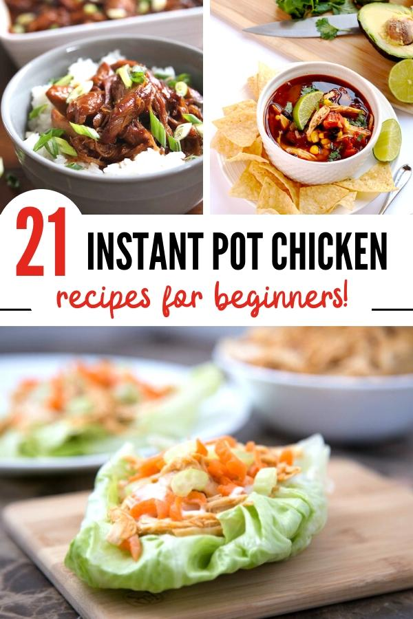Pressure Cooker chicken recipes pin image B