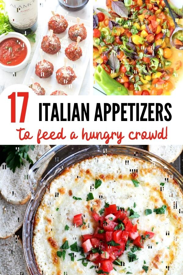 Italian Appetizers pin Image A