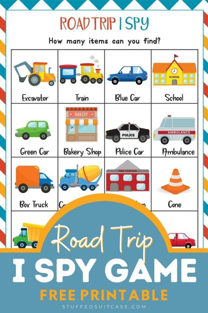 Road trip I Spy game graphic