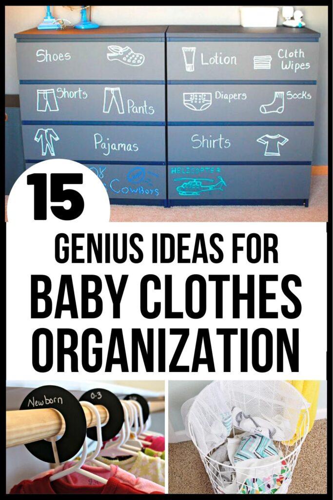 baby closet organization pin image A