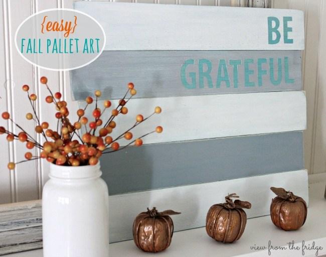 DIY be grateful wood sign