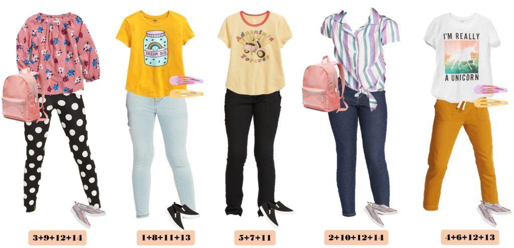 girls capsule wardrobe image