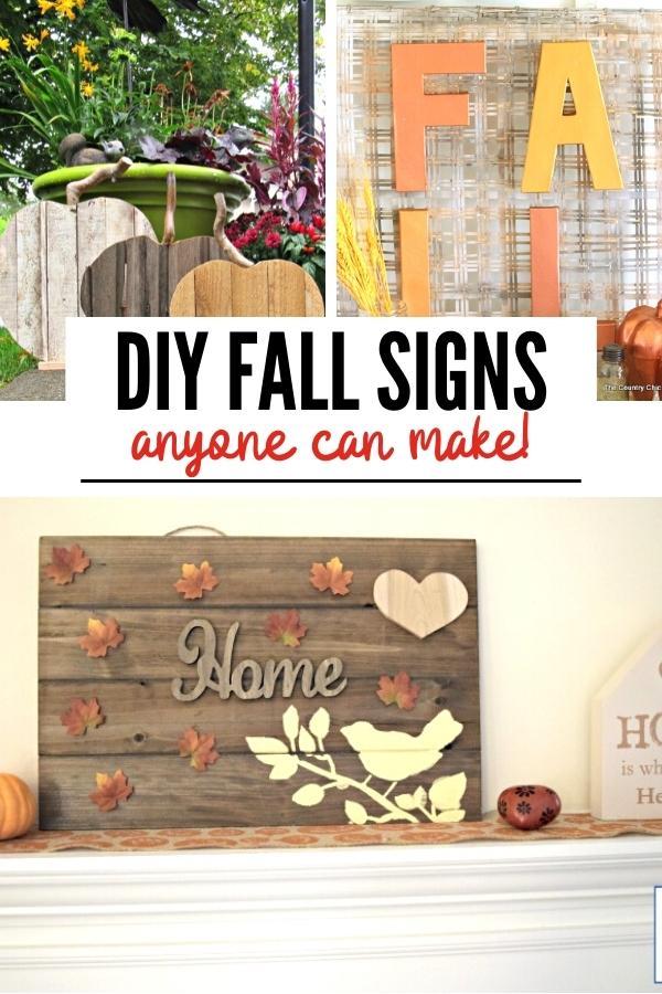 DIY fall decor crafts pin B