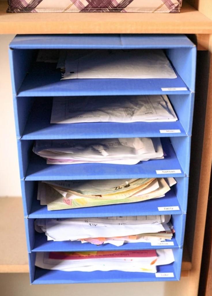 DIY school paper organizer