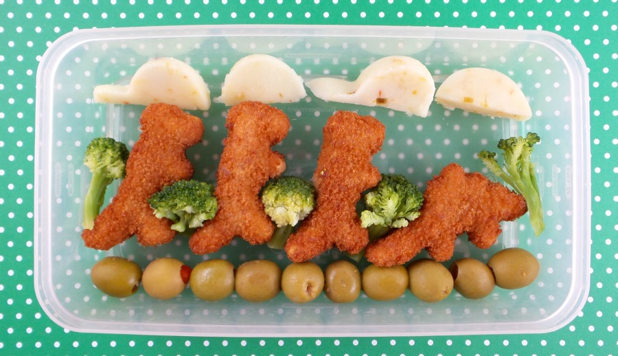 Dino-themed lunch idea for kids