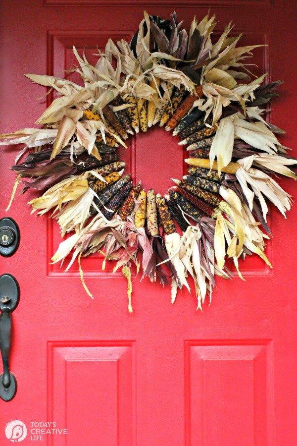 Indian corn fall wreath