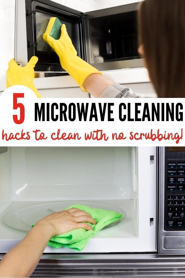 microwave cleaning hacks pin image B
