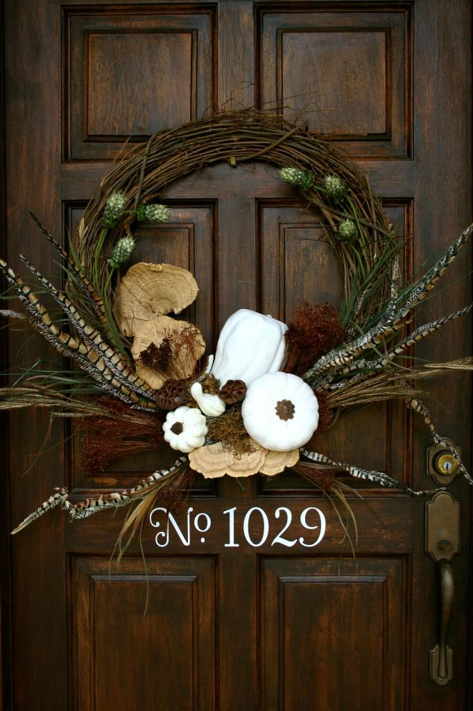 white gourd grapevine wreath
