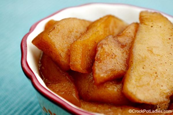 Bowl of crockpot baked apples