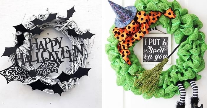 20 DIY Halloween Wreath Ideas to Dress Up Any Door