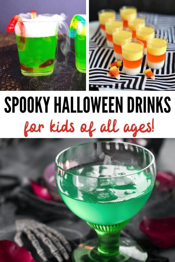 Halloween drinks for kids pin image