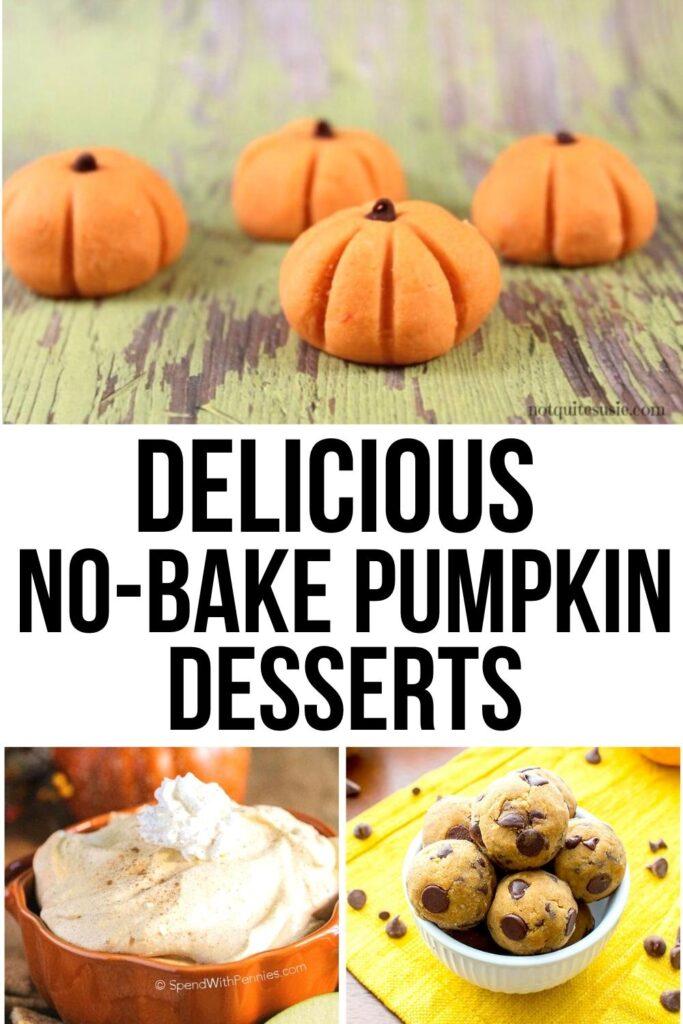 pumpkin dessert recipes pin image