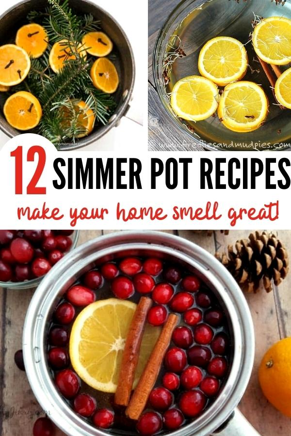 simmer pot recipes pin image