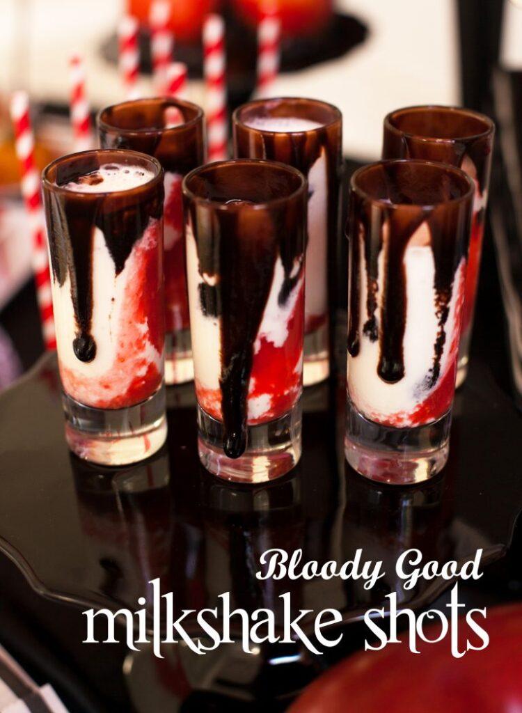 bloody good vampire milkshake shots