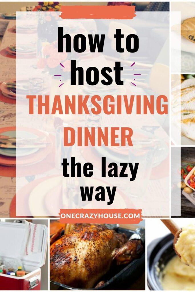 hosting Thanksgiving Tips pin image