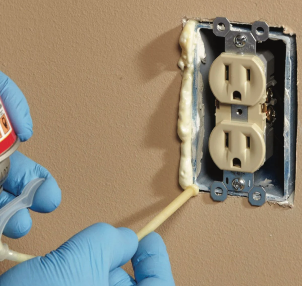 insulating an electrical outlet