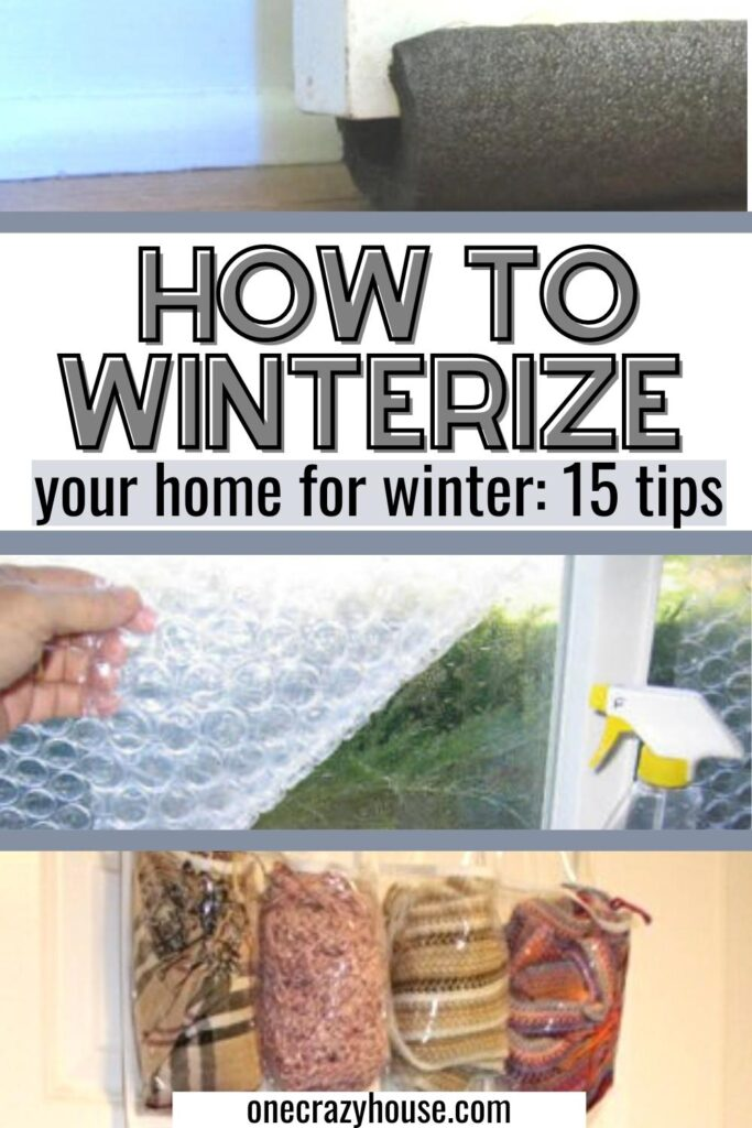 how to winterize a home pin