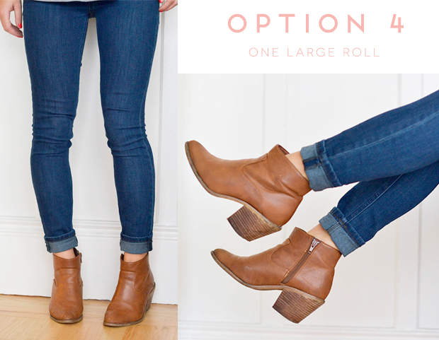 roll up those skinny jeans when wearing booties