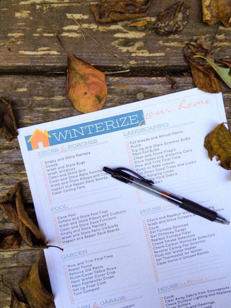 house winterization checklist