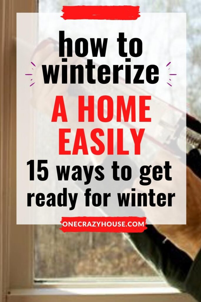 how to winterize a home pin image