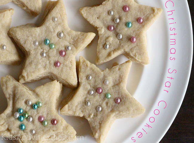 Star Cookies on a plate