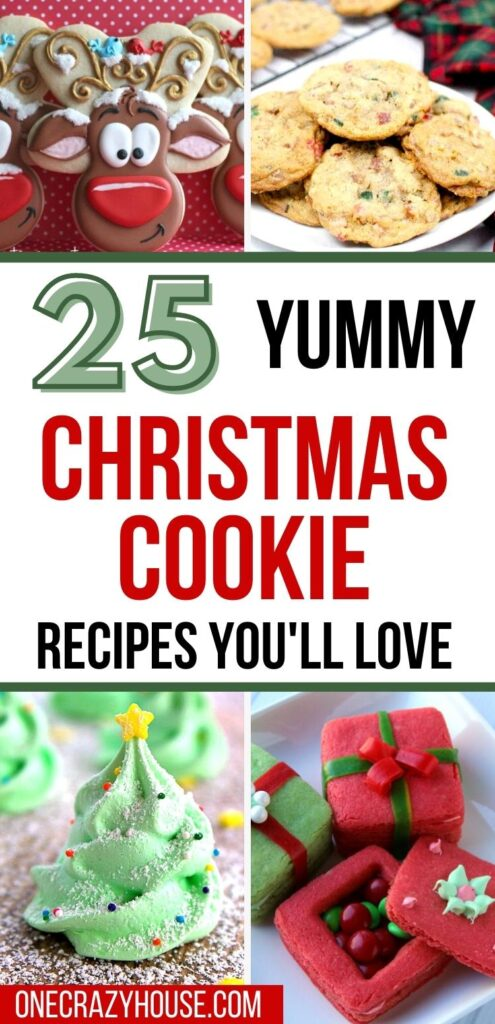 Christmas cookie recipes pin image
