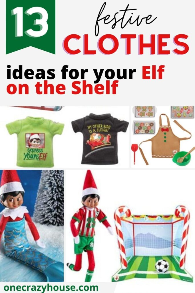 Elf on the Shelf clothes ideas pin image