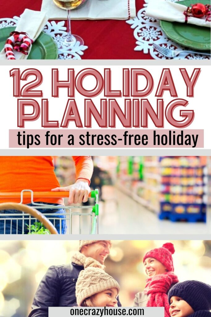 holiday planning tips pin image