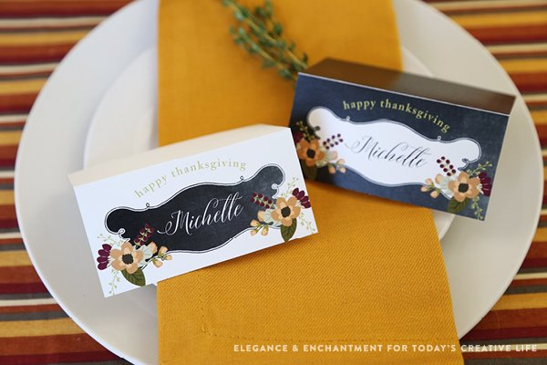 printable holiday place cards