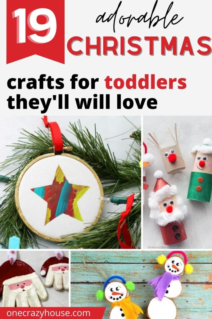 Christmas crafts for toddlers pin image