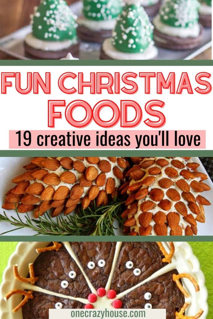 19 Fun Christmas food ideas pin image
