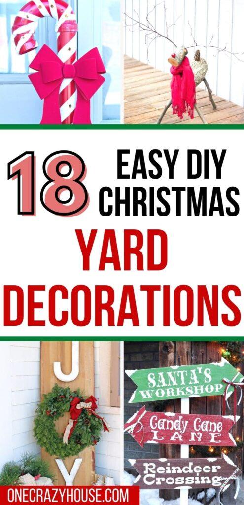 Christmas yard decoration ideas pin image