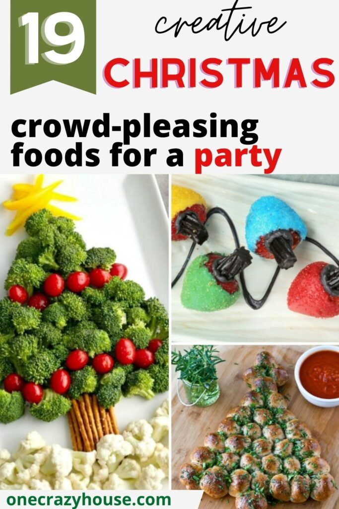 fun Christmas food ideas pin image