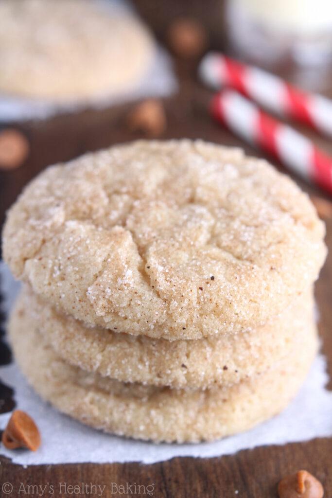 eggnog snickerdoodle cookies