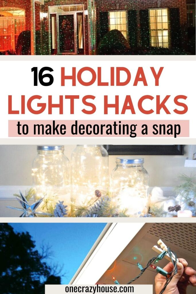 decorating with holiday lights pin image