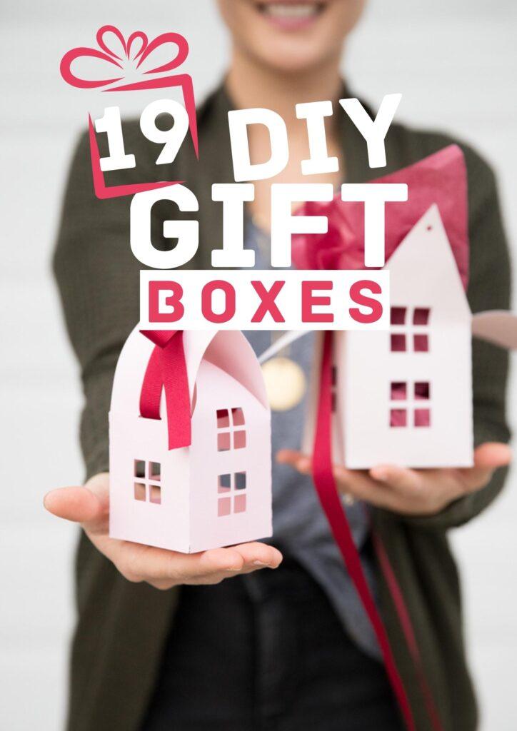 DIY gift boxes pin image