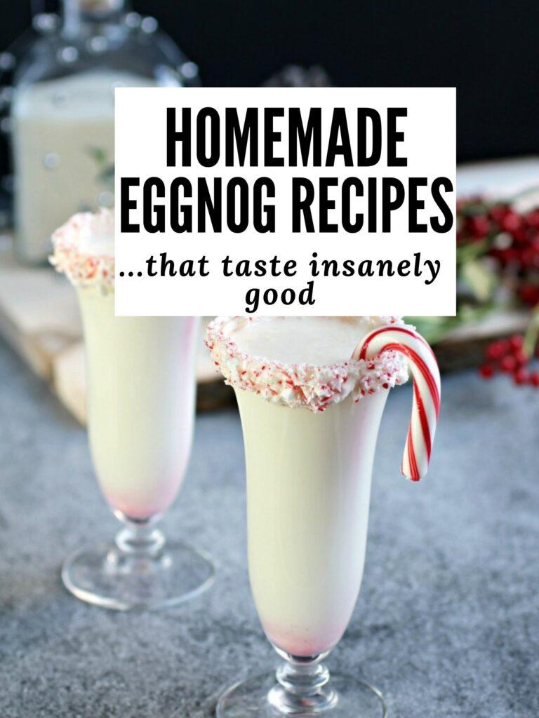 eggnog recipes pin image