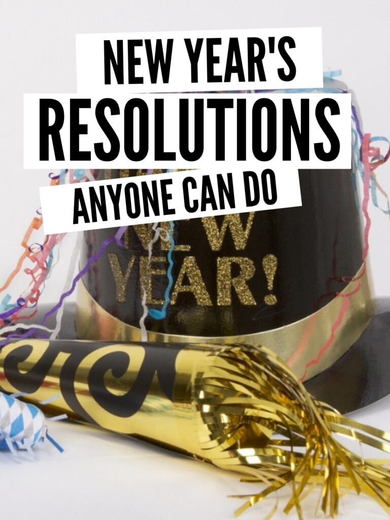 new year's resolutions pin image