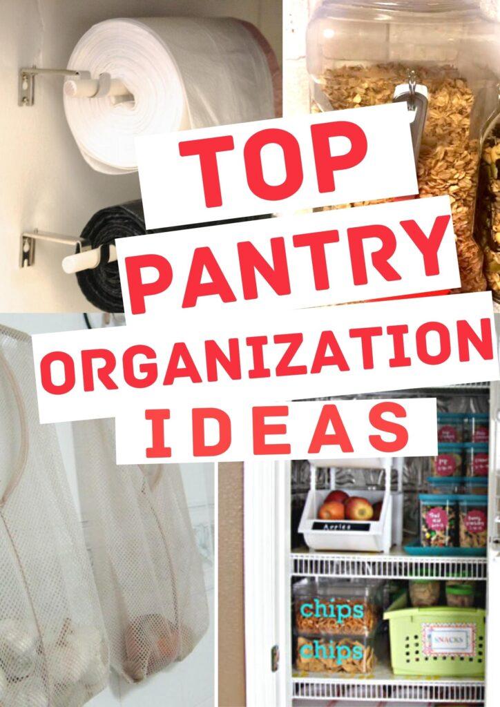 pantry organization ideas pin image