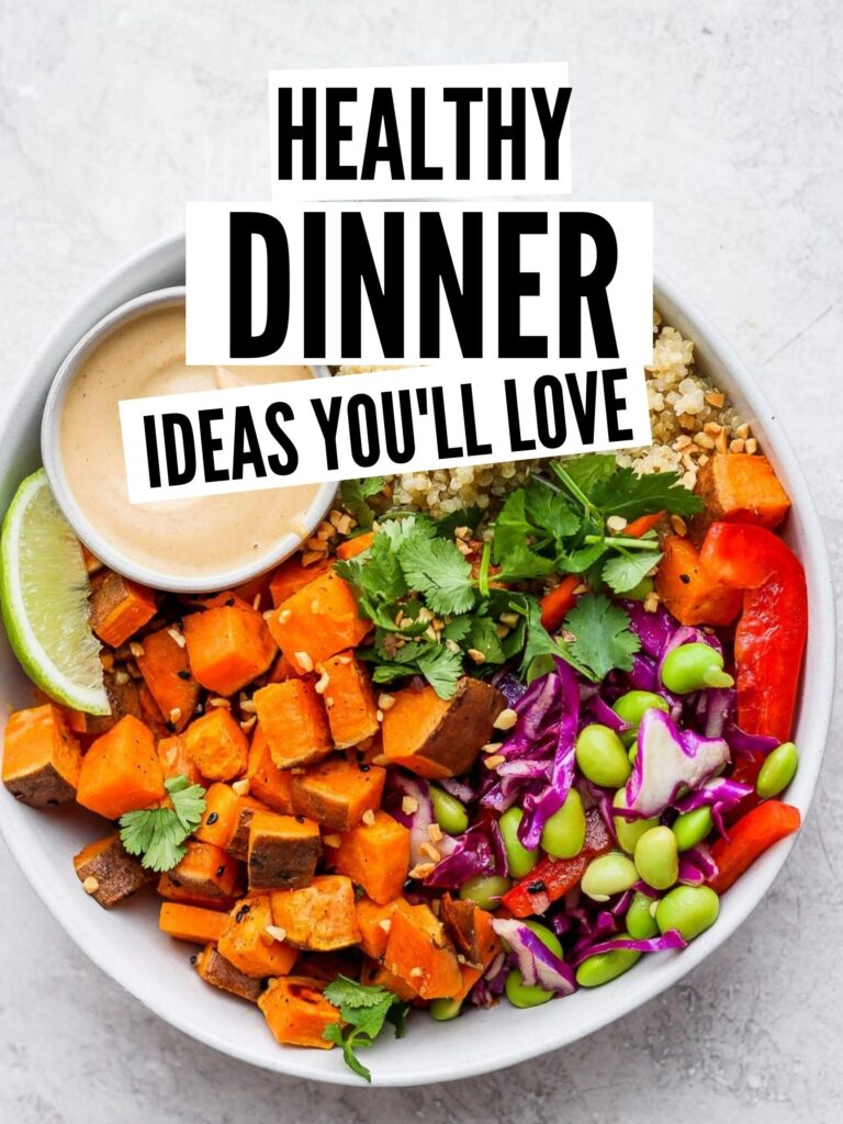 healthy dinner ideas pin image