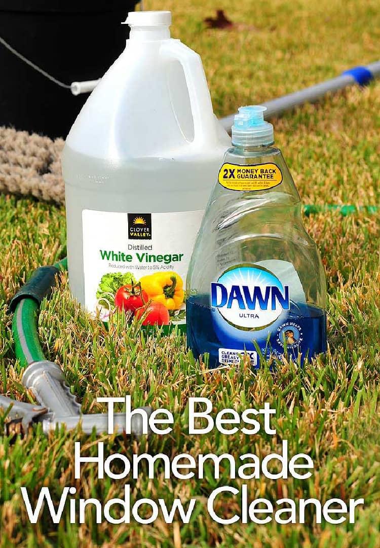 diy window cleaning solution materials vinegar, dawn dishwashing liquid