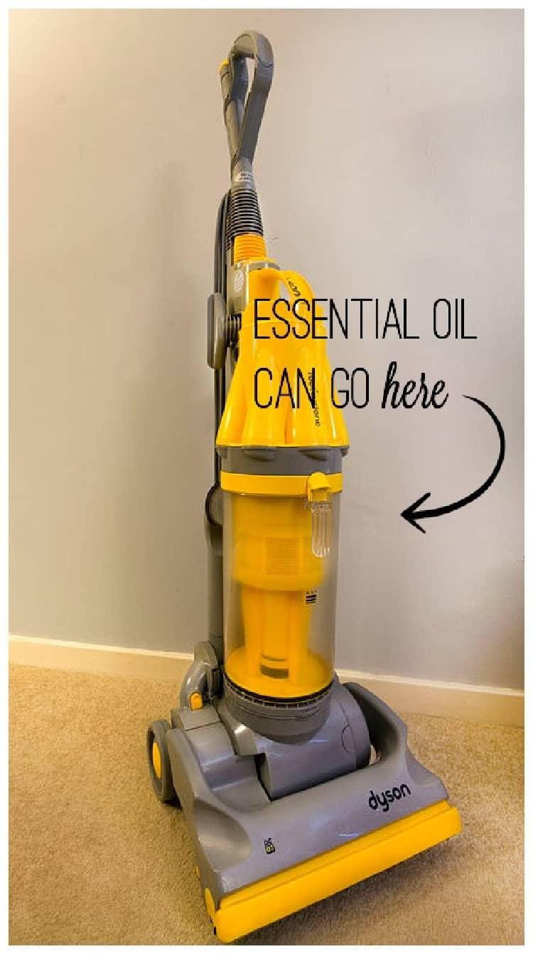 essential oils on cotton ball in vacuum bag