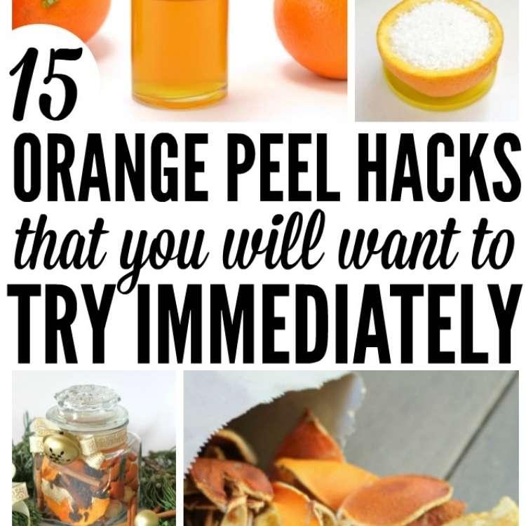 Orange Peel Uses Collage - Furniture Polish, Kindling, Christmas Spice Potpourri, and Air Freshener