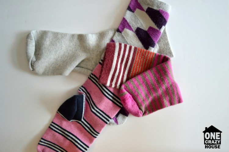 50 Things You Need to Toss - Mismatched Socks - image of 4 differently patterned socks