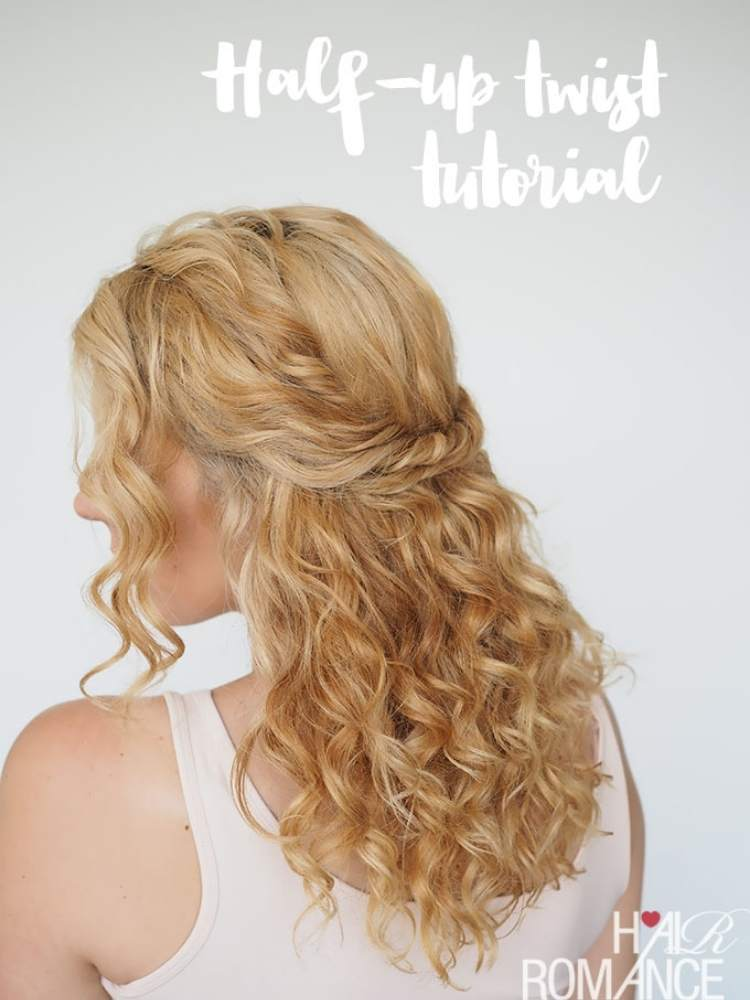 Simple half-up hairstyles