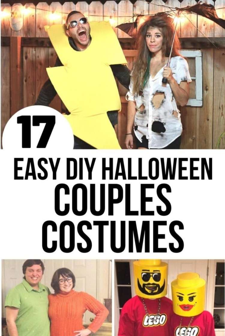 Easy Couples costumed - collage struck by lighteng, Velma and shaggy, and lego costume ideas